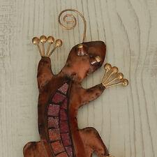 Gecko Mosaik Eidechse Salamander Echse Wanddeko Gartendeko Blechfigur Metallgeko