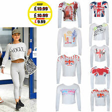 Polyester Crew Neck Cropped Casual Tops & Shirts for Women