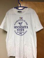 NWOT New Minnesota State Mankato T-shirt Large White Distressed Mavericks 1868