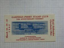 1960 Gpsc Cleveland Oh 70th Anniversary Expo Glenn H Curtiss Flight Souvenir