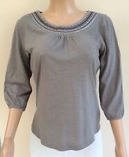 *NEW* Papaya Grey Embroidered Sequin Trim Top Size 14    JT52