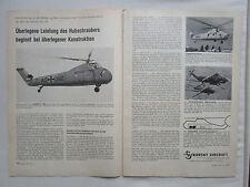 7/1958 PUB SIKORSKY R-4 S-58 HSS-1F SIKORSKY S-56 HELICOPTER ORIGINAL GERMAN AD