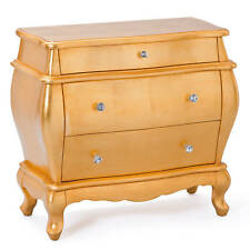 Commode coiffeuse rangement Fantastica or Bois massif MDF