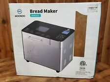 Moosoo 25-in-1, 2Lb Stainless Steel Programmable Bread Maker, New, Open Box
