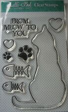 Lelli-Bot Crafts ~ Moggies ~ A6 Clear Acrylic Stamps Set