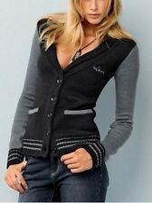 4Wards Strickblazer Gr.44/46 (L) NEU Damen Jacke Schwarz/Anthrazit Wolle