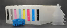 8x Refillable Pigment Ink Cartridges,for Epson 4000/7600/9600,UltraChrome+Reset