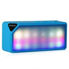 Mini Speaker X3S LED Blue Built-in mic Wireless Bluetooth 2.0 * sent from Europe