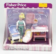 FISHER-PRICE ~ LOVING FAMILY ~ BABYSITTER & BABY SET ~ 2000 74638 Playset ~ NEW