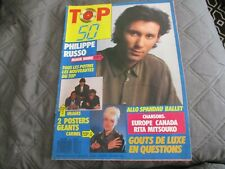 "RARE! REVUE ""TOP 50 N°53 - 1987"" Philippe RUSSO Les Rita Mitsouko Spandau Ballet"