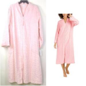 Miss Elaine Womens Jacquard Fleece Zip Robe Choose Size & Color New 866579