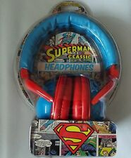SUPERMAN super heroes music  HEADPHONES  over ear covers official DC  NEW