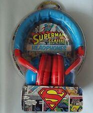 SUPERMAN SUPER EROI Music Cuffie Over Ear copre Ufficiale DC NUOVO