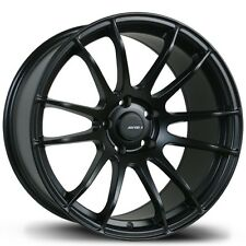 Avid1 AV20 Rims 18x8.5 +33 5x114.3 Black Accord Lancer Mazda 3 Sonata Camry TSX