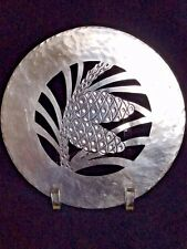 Emily A Day sterling pine cone trivet