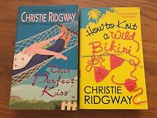 Christie Ridgway LOT OF 2 This Perfect Kiss, How To Knit A Wild Bikini PB