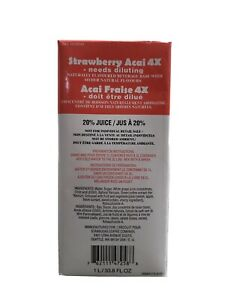 1 LITTER Starbucks Strawberry Acai 4X Base NEW FORMULA USED IN STORES