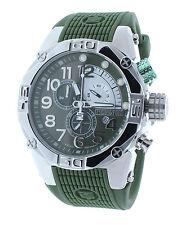 Technosport TS-560-4 Men's World Timer GMT Swiss Military Green Watch