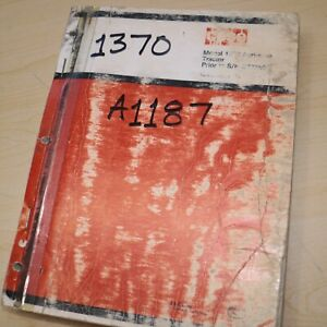 CASE IH 1370 Tractor Parts Manual Book spare catalog 1974 A1187 Agri-King list