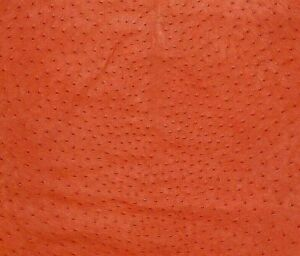 Ostrich Leather Hide, Chilly Red Color (%100 Genuine Natural skin)
