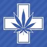Medical Marijuana Cross Vinyl Decal Sticker 420 Pot Leaf Weed Cannabis