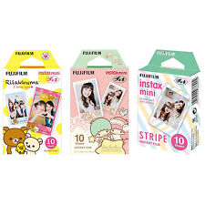 Rilakkuma Little Twin Stars Stripe FujiFilm Instax Mini Film Polaroid 30 Photos
