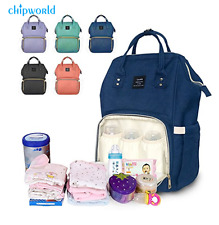 LAND Mummy Dad Maternity Nappy Diaper Bag Baby Nursing Large Travel Backpack New