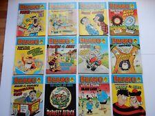 x12 VINTAGE BEANO Comic Library No 70-81 1985 British Comics Libraries Laughter