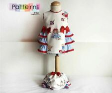 PAPER Printed SEWING PATTERN Dress with side ruffles SPANISH GIRL STYLE CLOTHING