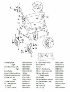 Drive Medical Rollator Walker Model R800 Replacement Parts  ~NEW~  Free Shipping