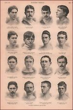 College Track Champions, High Jump, Hurdles, Bicycle, antique engravings 1891