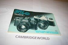 Yashica Fx-D Fx D Quartz Camera Instruction Manual Guide Book Original Genuine