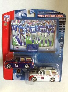 New Upper Deck Collectibles NFL Home And Road Die cast New York Giants Escalade