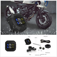 Waterproof Motorcycle Bikes Tire Pressure LCD Monitor System Kit TPMS USB Power
