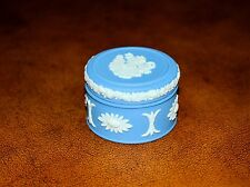 Rare Vintage Wedgewood Small Light Blue Ring Trinket Box England