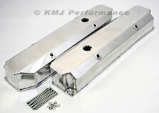 Big Block Mopar 383 400 440 Polished Fabricated Aluminum Valve Covers Long Bolt