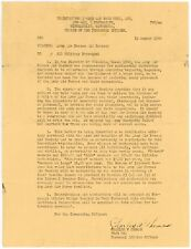 WW2 1944 USAAF ARMY AIR FORCES AID SOCIETY LETTER GENERAL CHARLES THOMAS PAO
