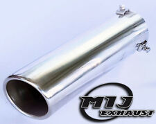 "Exhaust Tail Pipe Round Rolled In 3"" 76mm Sports Bolt-on Trim Slash Cut Tip"