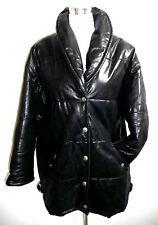 Weiche warme Lederjacke schwarz Leder Jacke   L black leather jacket Kurzmantel