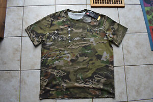 New Under Armour Men's Scent Control Forest Camo S/S XXL 2XL Shirt  Free Ship