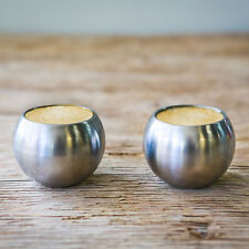 SPARQ Espresso Cups Stainless Steel - Set of 2
