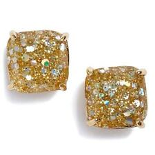 Stud Earrings Gold Opal Multi Nwt Kate Spade Glitter Mini Square