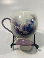 Teleflora Mug Cup Blossoms And Butterflies Lena Liu Purple Floral