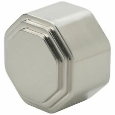 Octagonal Brushed Nickel Stair End Cap Round Handrail Richard Burbidge Hardware