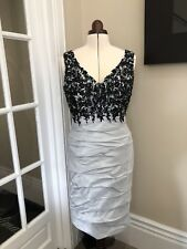 Size 14 Ian Stuart Mother Of The Bride Silver Dress For Weddings