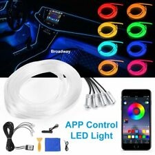 6M LED RGB Auto Ambientebeleuchtung Innenraumbeleuchtung Lichtleiste App Control