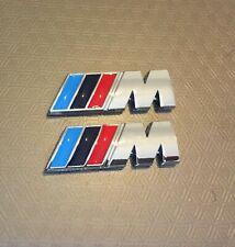 2x Silver M Sport M Power Side Wing Metal Badge Chrome BMW 1,2,3,4 5 X5 UK Stock