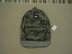 NEW IN ORIGINAL PACKAGING Victoria's Secret PINK CAMPUS BACKPACK GREEN CAMO