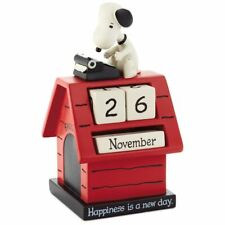 Hallmark Peanuts Snoopy Doghouse Resin Perpetual Calendar New