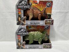 Jurassic World Roarivores Sinoceratops Triceratops Lot New